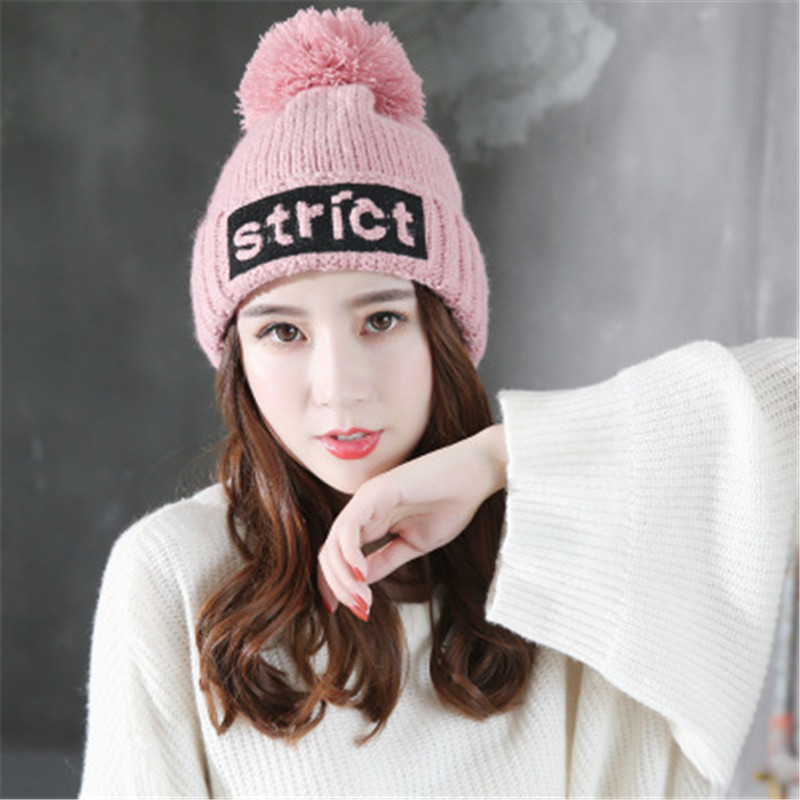 mink and fox fur ball cap pom poms winter hat for women girl 's wool hat knitted cotton beanies cap brand new thick female cap high quality real fur ball pompom winter hat for women wool hat knitted cotton beanies cap brand new thick female hat