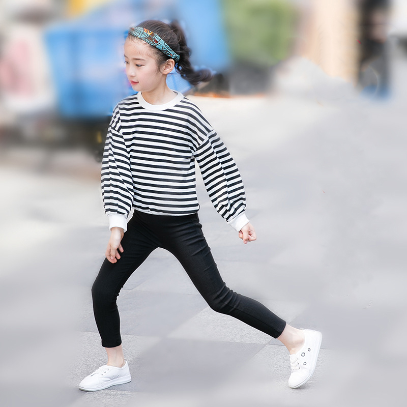 Funfeliz Baby Girl Trousers 201 Spring Summer Autumn Icing Leggings for Girls Solid Color Kids Pants Children Clothes 2 10 years in Pants from Mother Kids
