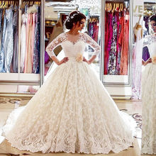 kejiadian Long Sleeve Wedding dresses Bridal Gown Ball Gown