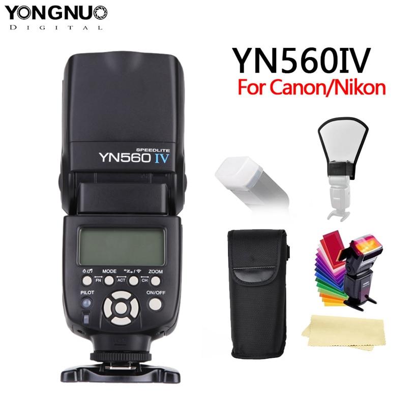 yongnuo YN560 IV YN560IV 2.4G Wireless Master & Group flash Speedlite for Nikon Canon Pentax Olympus Pentax DSLR Camera + GIFT yongnuo yn560 iv master radio flash speedlite rf 603 ii flash trigger for canon pentax olympus