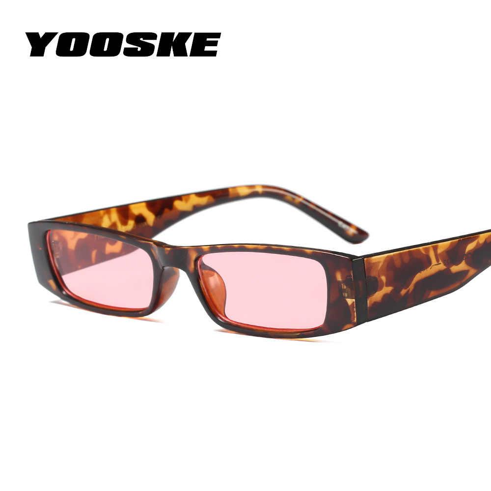 a723e119a8c YOOSKE Vintage Small Sunglasses Women 2018 Brand Designer Retro Leopard  Frame Sun Glasses Womens Tiny Rectangular