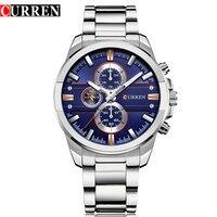 CURREN Luxury Casual Men Watches Military Quartz Male Wristwatch Stainless Steel Waterproof Relogio Masculino Montre Homme|Quartz Watches| |  -