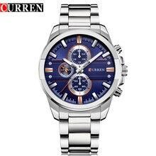 Relojes CURREN de lujo informales de cuarzo para hombre, reloj de pulsera de acero inoxidable resistente al agua para hombre