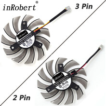 PowerLogic 75MM PLD08010S12H 2Pin 3Pin Cooler Fan For NVIDIA GeForce GTX 560 460 Ti R7 260x R270X MSI 560 Ti Graphics Video Card(China)
