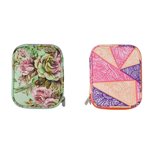 17.5*14*3.5cm Double Layer Compartment Storage Bagcase Crochet Hook Thread Sewing Kits Organizer Gift  Knitting Yarn Bag