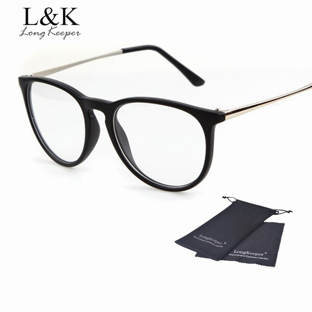 Long Keeper Classic Ladies\' Glasses Frame Women Men Brand Designer ...