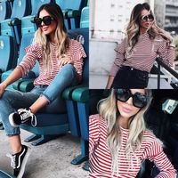 2018-New-Fashion-Women-Casual-T-Shirts-Summer-Ruffle-Style-Long-Sleeve-Outfits-T-Shirts-Women-Clothes-2