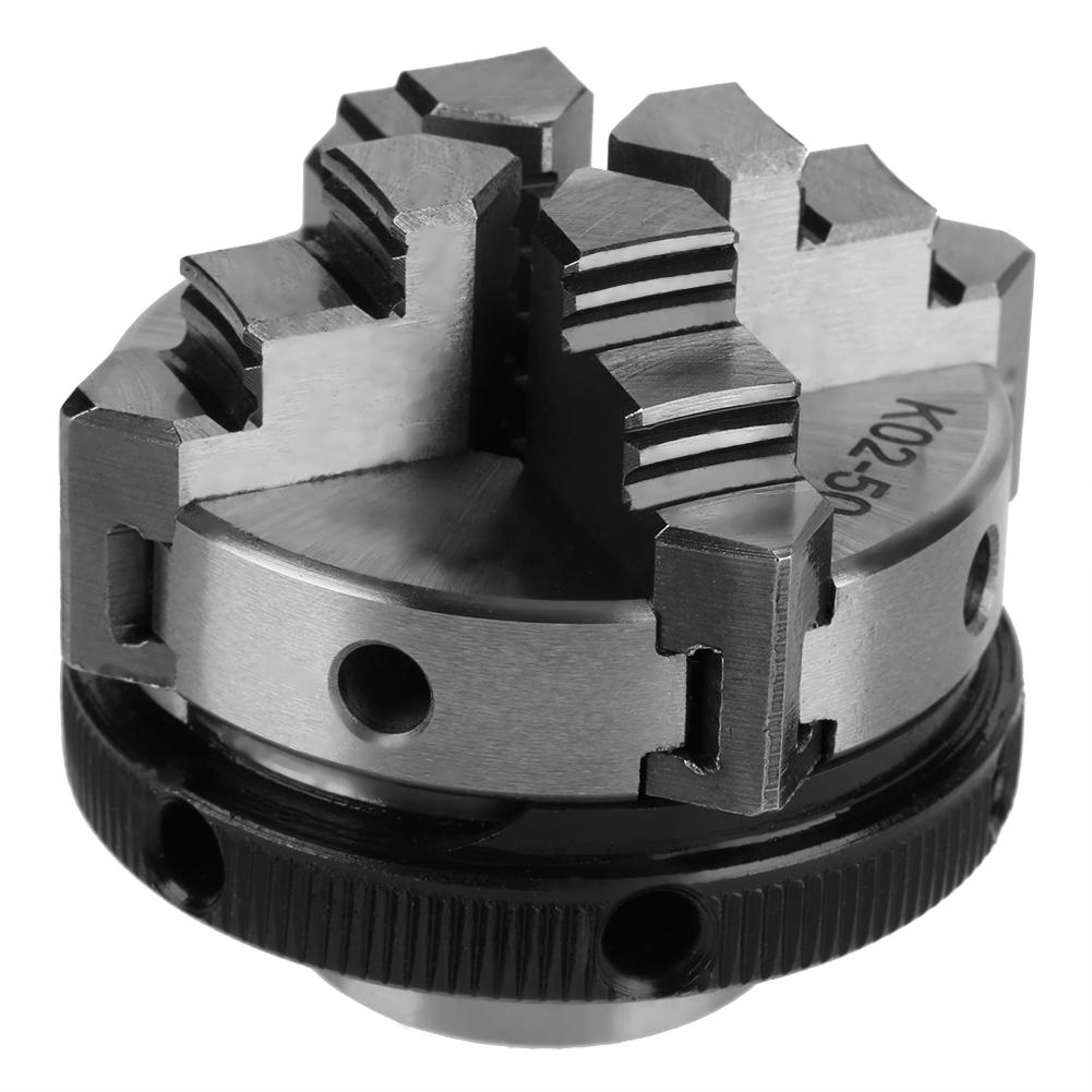 新しい旋盤チャック 50 ミリメートルミニ 4 顎可逆自己センタリングマウント旋盤チャック K02 50 torno 金属卸売  グループ上の ツール からの チャック の中 3