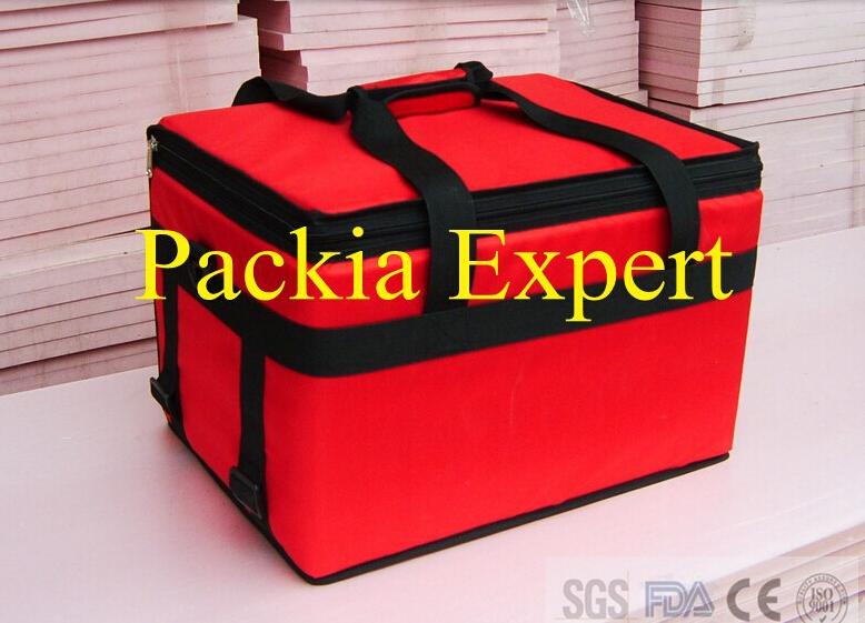45*35*30cm with Plywood support Customized LOGO (two colors )Pizza thermal insulation bag pizza food delivery bag Take out food total english intermediate workbook cd rom