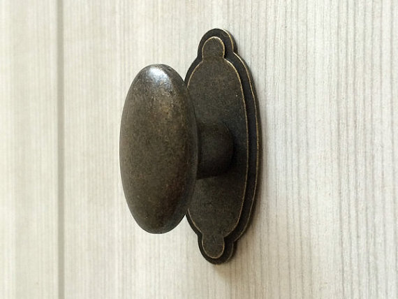 Dresser Knob Drawer Knobs Pulls Handles Back Plate Kitchen Cabinet Door Pull Handle Vintage Style Rustic Oval In From Home