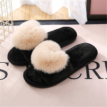 Winter Warm Flat with Slippers Indoor Adult Shoes Woman Cotton Slippers Heart-shaped Home Floor Soft Slippers Female Shoes home floor cute couple cotton slippers winter love indoor slippers heart soft bottom keep warm cotton mop wear comfortable