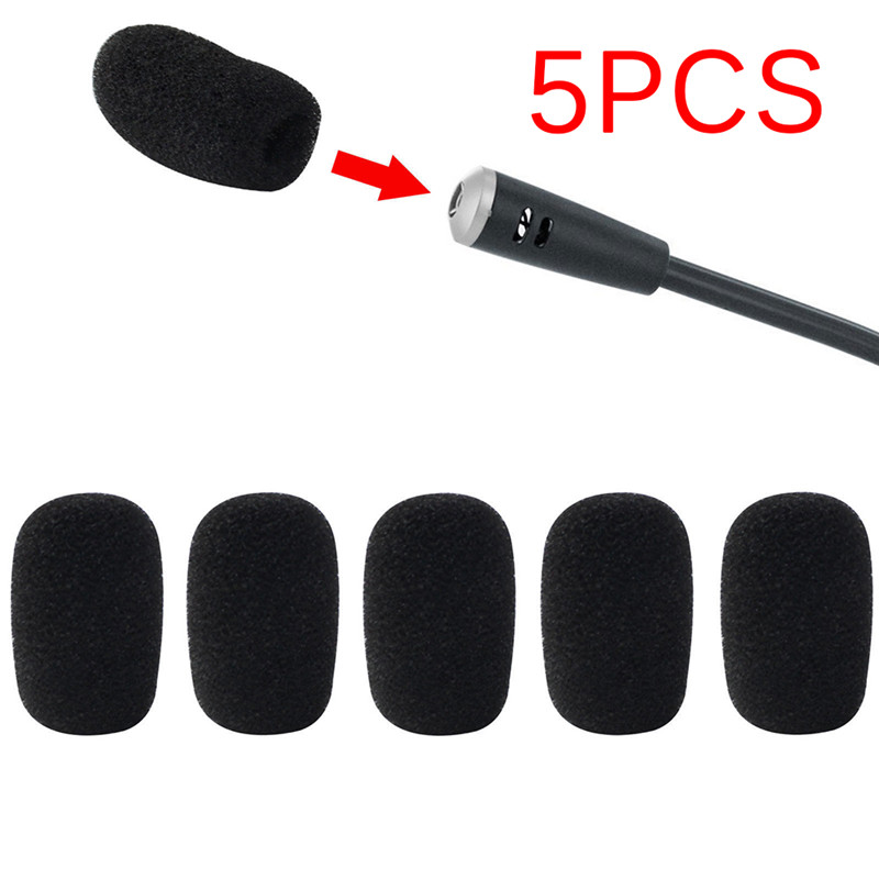 5pcs/lot  35*25*10mm Mic Cover Microphone Windscreen Windshied Headset Replacement  Telephone Headset Foam Microphone Cover