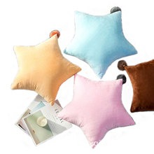 5 Color Candy Cute Star Shape Pillow Comfort Plush Throw Soft Stuffed 3D Cotton Cushion 55CM Room Decorate  Gift