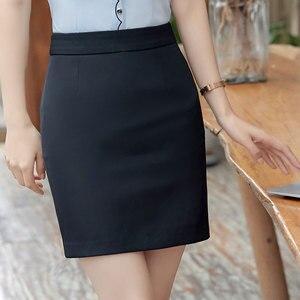 Image 3 - חצאיות נשים קיץ 2019 נשים שחור חצאית בתוספת גודל אישה גבוהה מותן OL חצאית אופנה נשים Workwear Bodycon עיפרון חצאיות 5XL