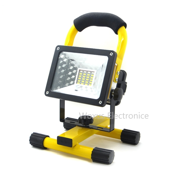 10w led flood light work light l outdoor waterproof ip65 18650 battery rechargeable portable