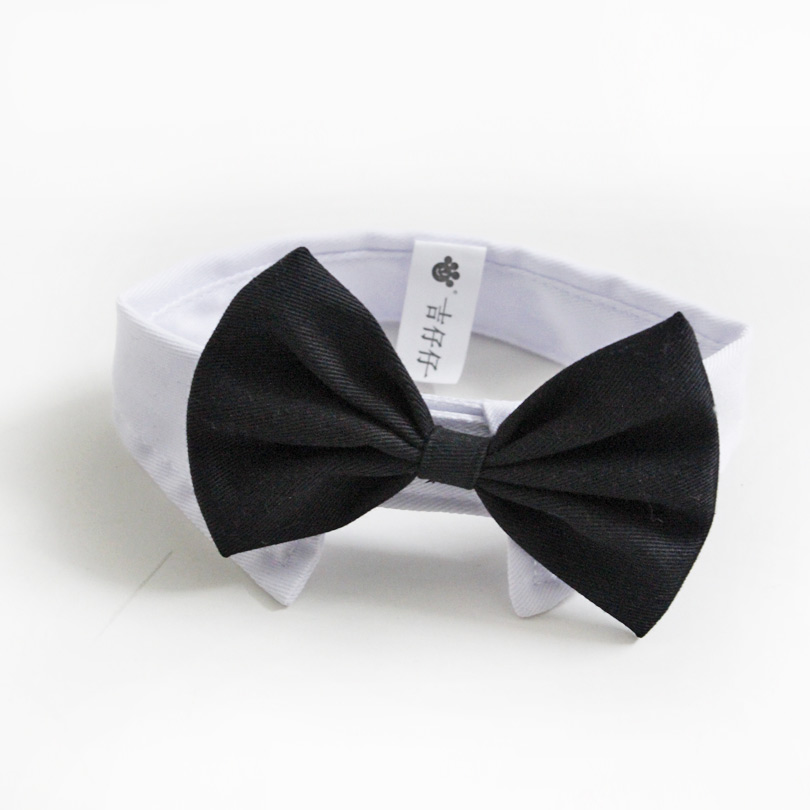 Nuovo arrivo Handsome Formal Dog Cat Bow Tie Sposo Tuxedo Costumi Cani Cravatta Accessori da sposa Grooming Black Bowtie