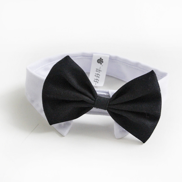 New Arrival Handsome Formal Dog Cat Bow Tie Groom Tuxedo Costumes Pet Dogs Tie Wedding Accessories Grooming Black Bowtie
