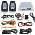 Push button start PKE car alarm with remote engine  start stop, touch password entry window close output keyless go system
