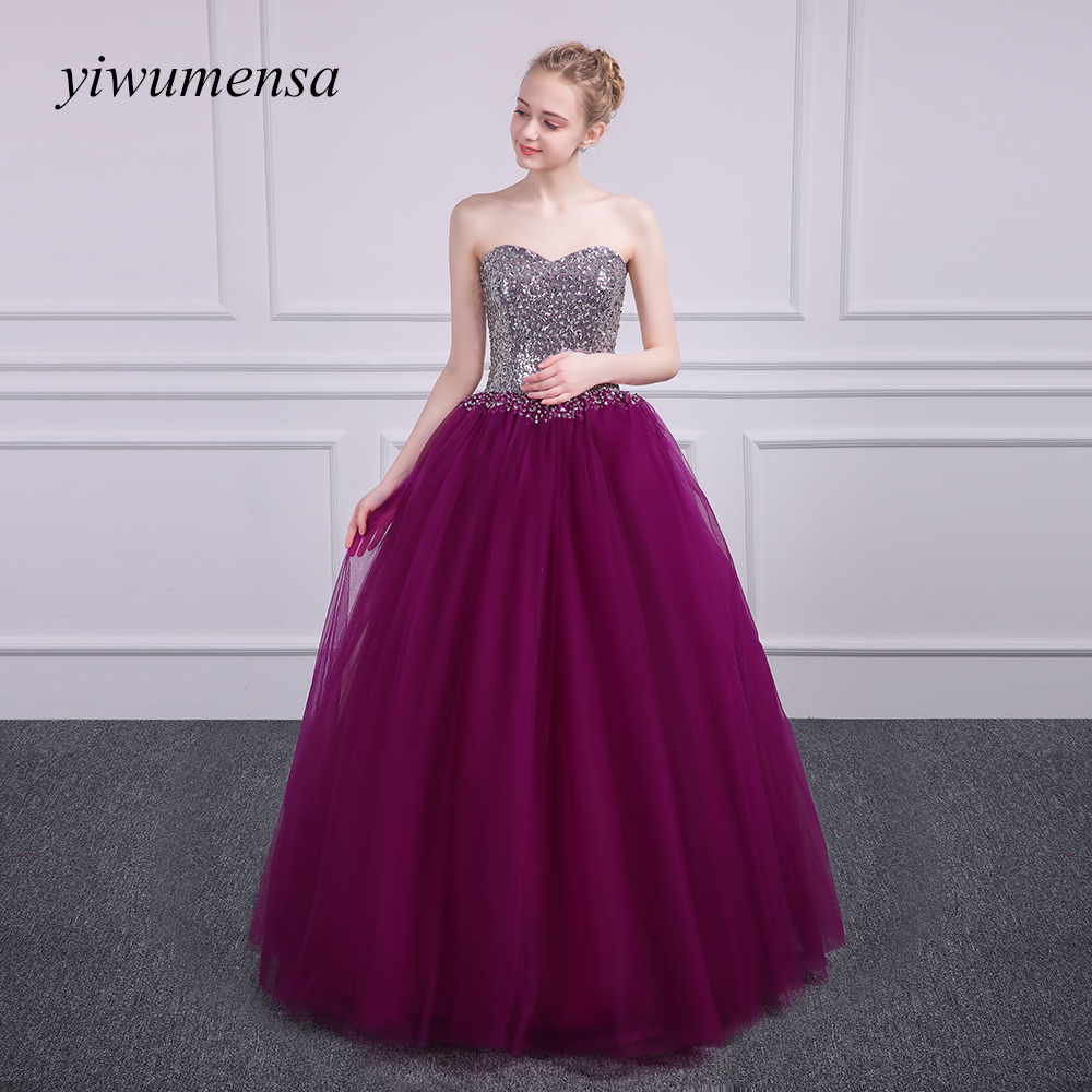 yiwumensa Sliver beads   Prom     Dresses   Luxury Mermaid Evening Gowns Sweetheart robe de soiree Gold Ball gown Evening   Dresses   2017
