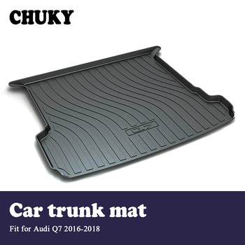 CHUKY  Car Cargo rear trunk mat For Audi Q7 2016 2017 2018 Styling Boot Liner Tray Waterproof carpet Anti-slip mat Accessories
