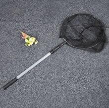 round frame Folding Fishing Landing Net Aluminum 3 Section Extending Pole Handle Fishing Tackle Equipment Accessory 1.5m