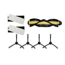 Pièces daspirateur robot kitfort KT 519 kt519, filtre HEPA * 2 filtres en éponge * 2 brosses latérales * 4 brosse principale roulante * 1