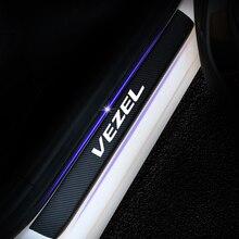 Для Honda Vezel автомобильный порог Добро пожаловать педаль наклейка s порога защита 4D карбоновая Виниловая Наклейка Автомобильные аксессуары 4 шт