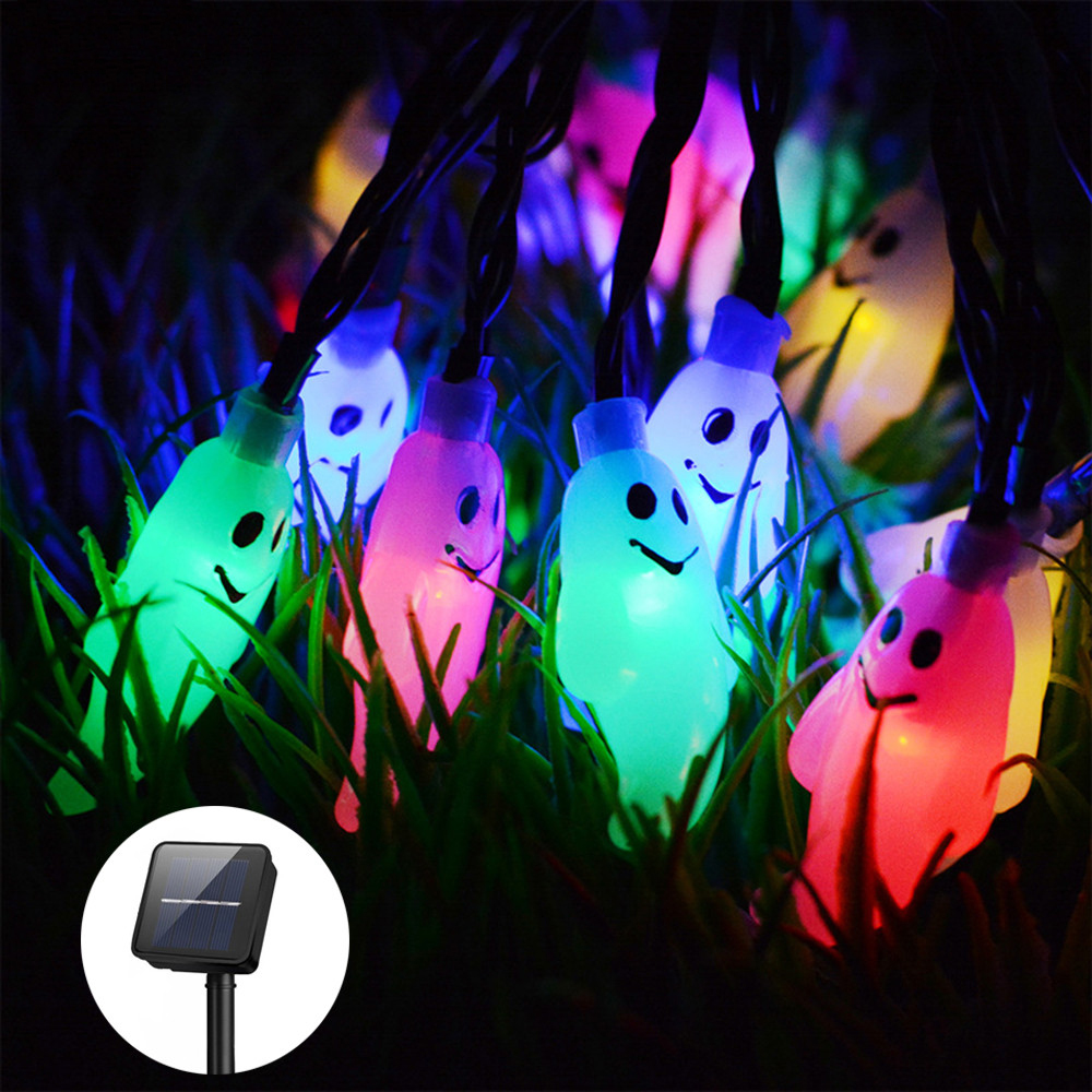 Hi-Lumix Halloween Solor String Light Ghost Garland 4.8M 20LED Specter Solar Fairy Light New Year Christmas Luces Decoration