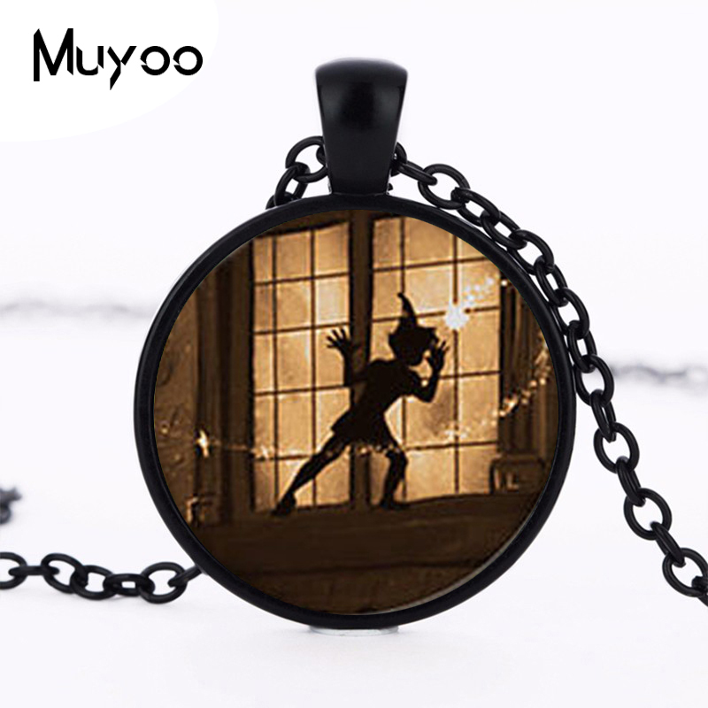 Steampunk US Movie Never Grow Up Peter Pan Quote Pendant Necklace brass 1pcs/lot mens handmade jewelry dr who chain cosplay HZ1