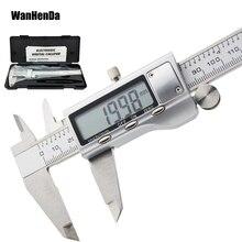 6 дюймов 0-150 мм Металл Нержавеющая сталь цифровой Электронный штангенциркуль цифровой штангенциркуль Измерительный Инструмент МИКРОМЕТР металлическая линейка