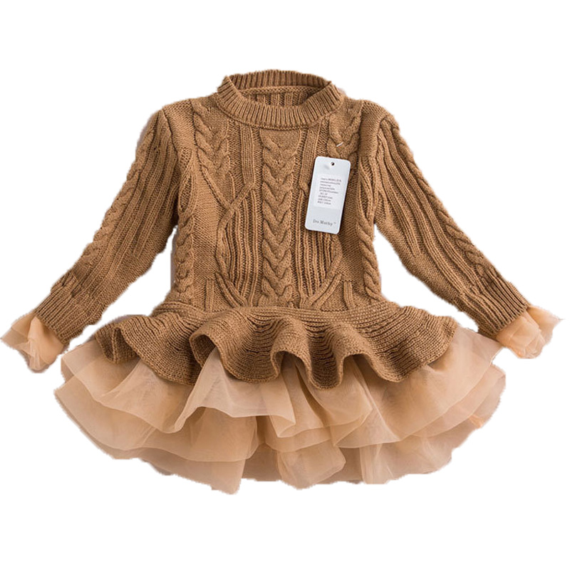 Infant Baby Girls Spring Winter Princess Christmas Party Sweater Tutu Dress Children Clothing Kids Vestidos Costume Clothes new year baby first christmas santa dress for girls winter snowman holiday children clothing christmas party tulle kids costume
