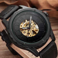 Automatic Self Winding Mens Watch Dropshipping Men's Mechanical Skeleton Watches New Arrival Sport Watches Luxury Brand Clock