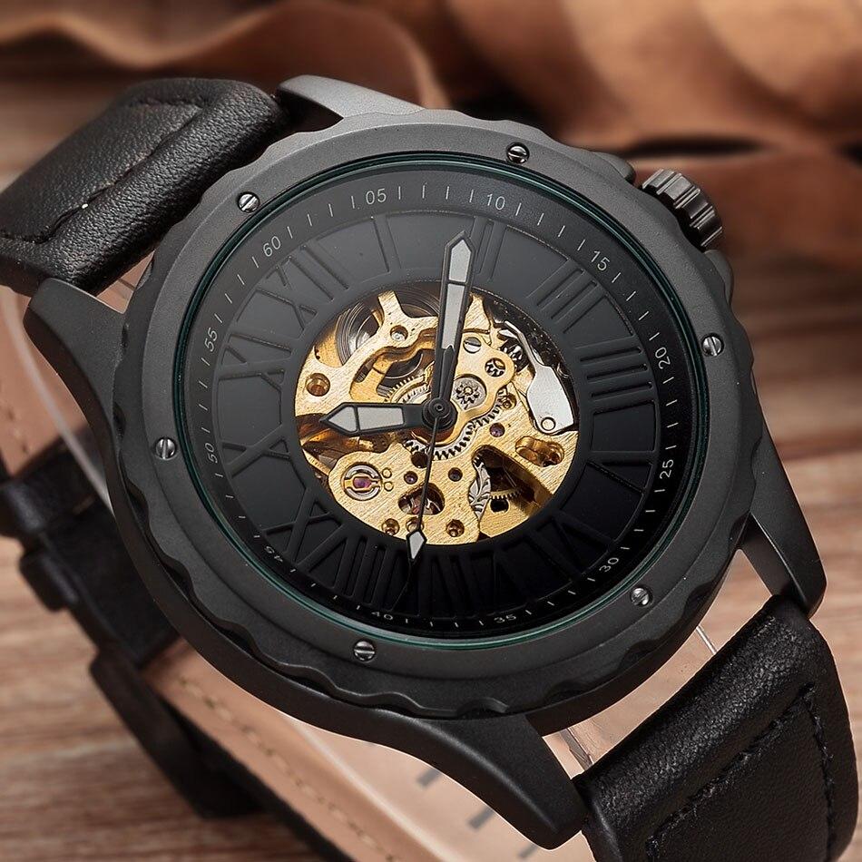 Automatische Selbst Wickel Mens Uhr Dropshipping herren Mechanische Skeleton Uhren Neue Ankunft Sport Uhren Luxus Marke Uhr