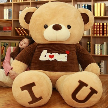 Semi finished empty Teddy bear Express of Love T- shirt Plush Brown bear 80-180 cm girlfriend birthday DIY gift without filler Uncategorized Decoration Stuffed & Plush Toys Toys