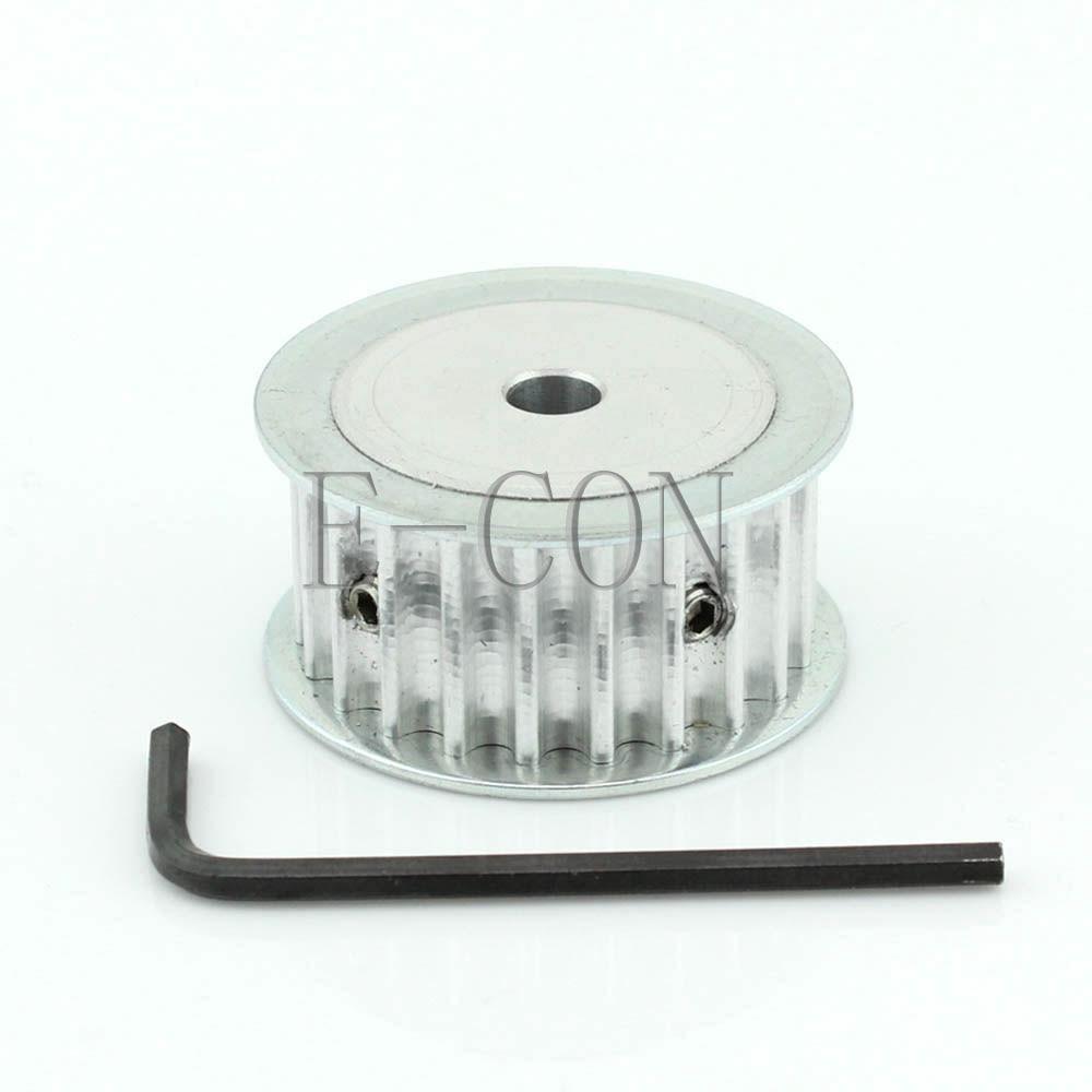 5M HTD5M Aluminum Timing Belt Pulley 16 Teeth 8mm Bore 16mm width Stepper Motor