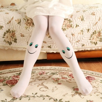 Muiti-Colors Girls Tights Kids Novelty Cartoon Cute Smile Stockings Baby Soft Velvet Ballet Pantyhose Princess Knee High Socks tights