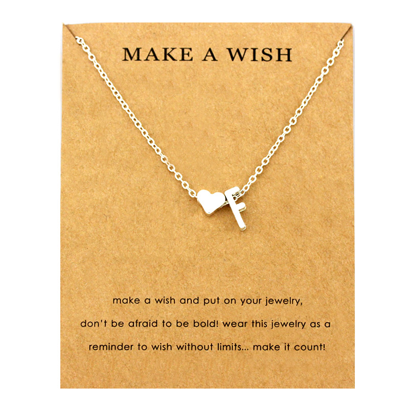Сердце начальные Подвески ожерелье s персонализированное ожерелье с буквами Имя ювелирные изделия для женщин мужчин аксессуары подруги любовника пара подарок - Окраска металла: NE1660