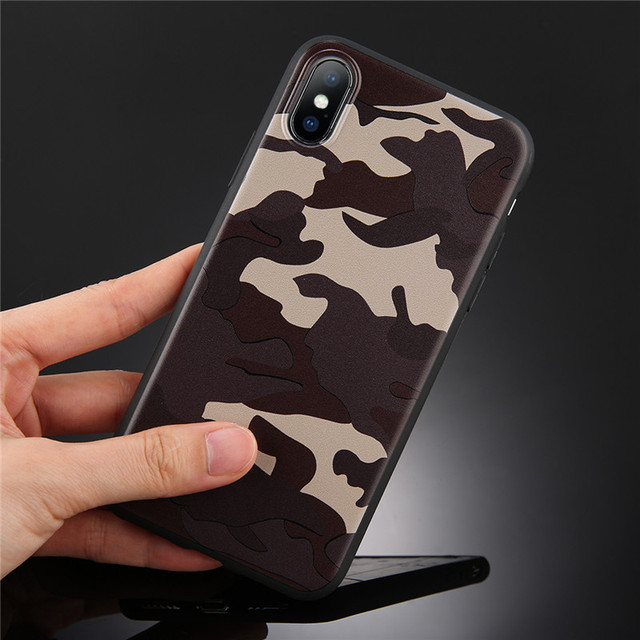 Army Green Camouflage Case For iPhones Soft TPU Silicon Phone Back Cover 1
