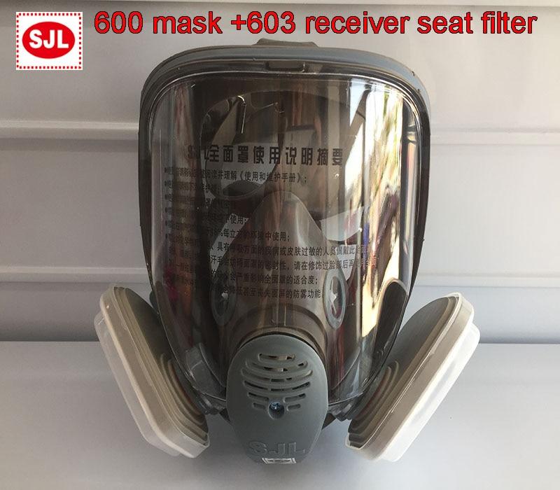 SJL 600 Gas mask + 3M 603 Holder 5N11 filter cotton 501 filter box respirator mask against dust PM2.5 Welding fumes filter mask sephora vintage filter палетка теней vintage filter палетка теней