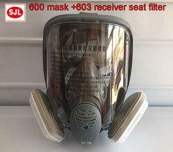 SJL 600 maschera Antigas + 3 M 603 Supporto 5N11 filtro in cotone 501 scatola filtro respiratore maschera contro polvere PM2.5 fumi di Saldatura filtro maschera