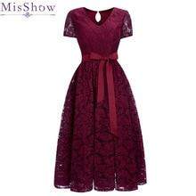 Real Photo Women Elegant Short Lace A Line Evening Dresses 2