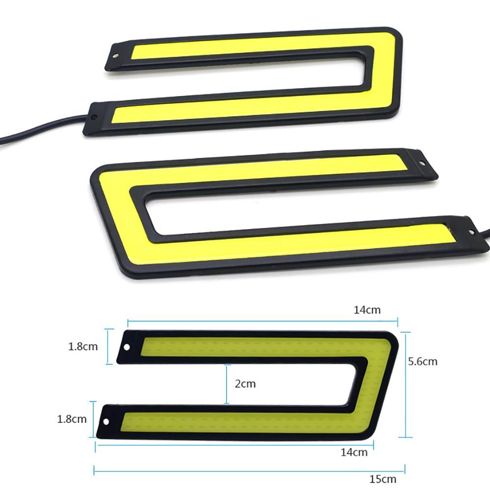 LVTUSI COB U formas DRL LED dienas gaitas gaismas LED automašīnu - Auto lukturi - Foto 5