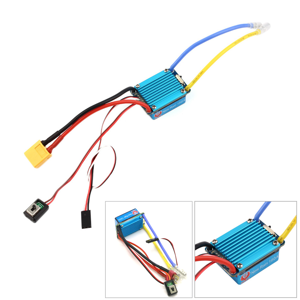 Waterproof Brushed ESC 160A 3S With 5V 1A BEC T-Plug For 1/12 RC Car Wholesale Dropship