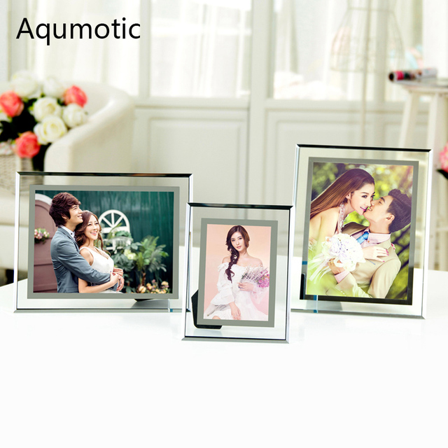 Aqumotic Photo Frame Glasses Safety 1pc Clear Crystal Picture Frames ...