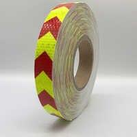 25mm x 50m cinta reflectante pegatinas coche-estilo de la cinta adhesiva de advertencia