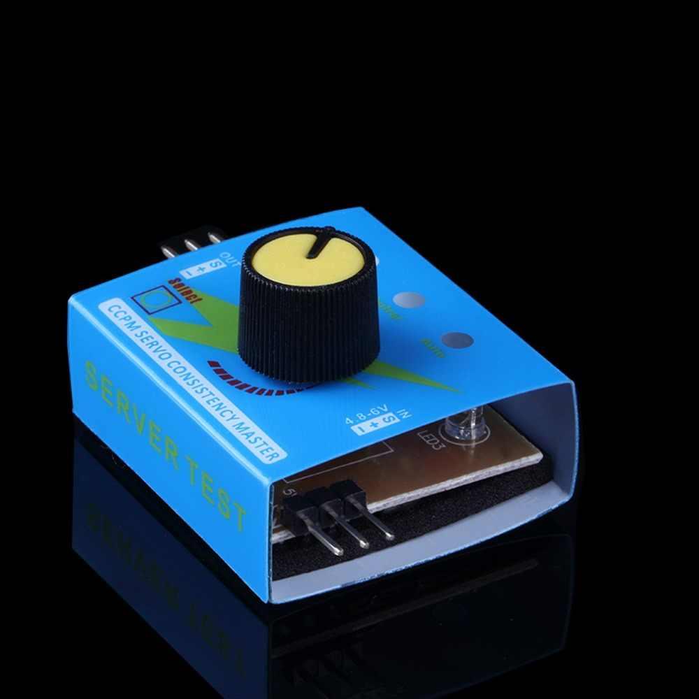 Comprobador de varios servos 3CH ECS control de velocidad de congruencia canales de alimentación CCPM Meter Master Checker