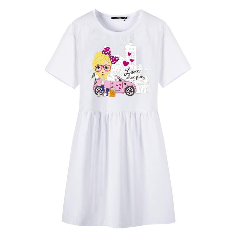 Women 39 s Clothing DIY T shirt Dress Iron on Girl Patches Transfer Fusible Clothing Decor Heat Transfer Stickers Badges Appliques in Patches from Home amp Garden