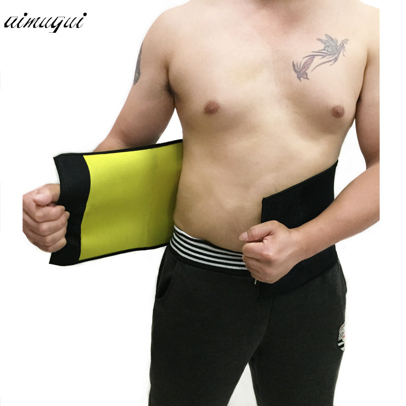 Male neoprene shapers waist trainer waist cincher corset men body shaper tummy slimming belt fitness sweat girdle slim underwear