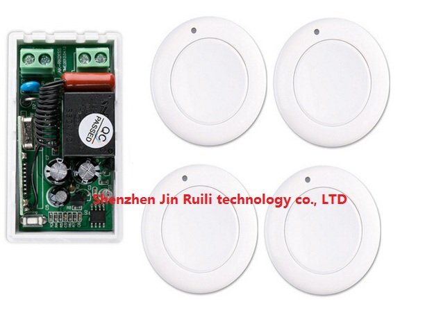 most simple wiring New AC 220 V 1CH Wireless Remote Control Switch System Receiver & 4*White wall Panel Sticky