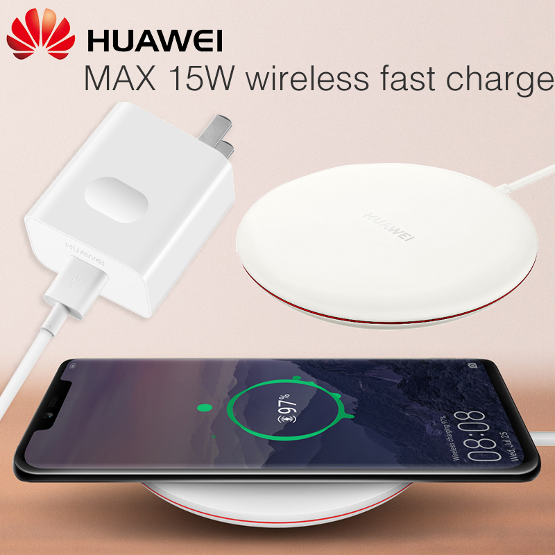 Chargeur sans fil HUAWEI QI Original Type C CP60 WPC intelligent 15 W Max HUAWEI Mate 20 Pro RS Compatible pour IPhone Samsung Xiaomi - 2